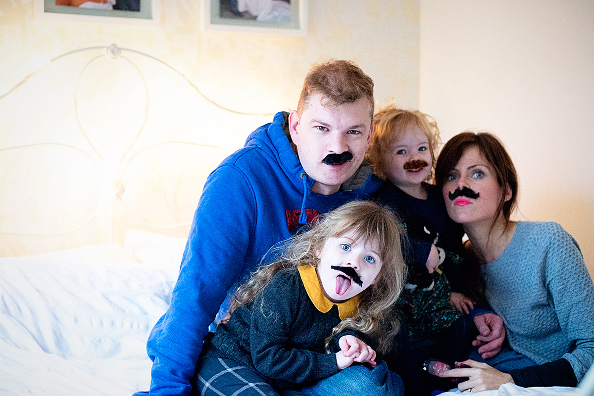 a family of moustaches