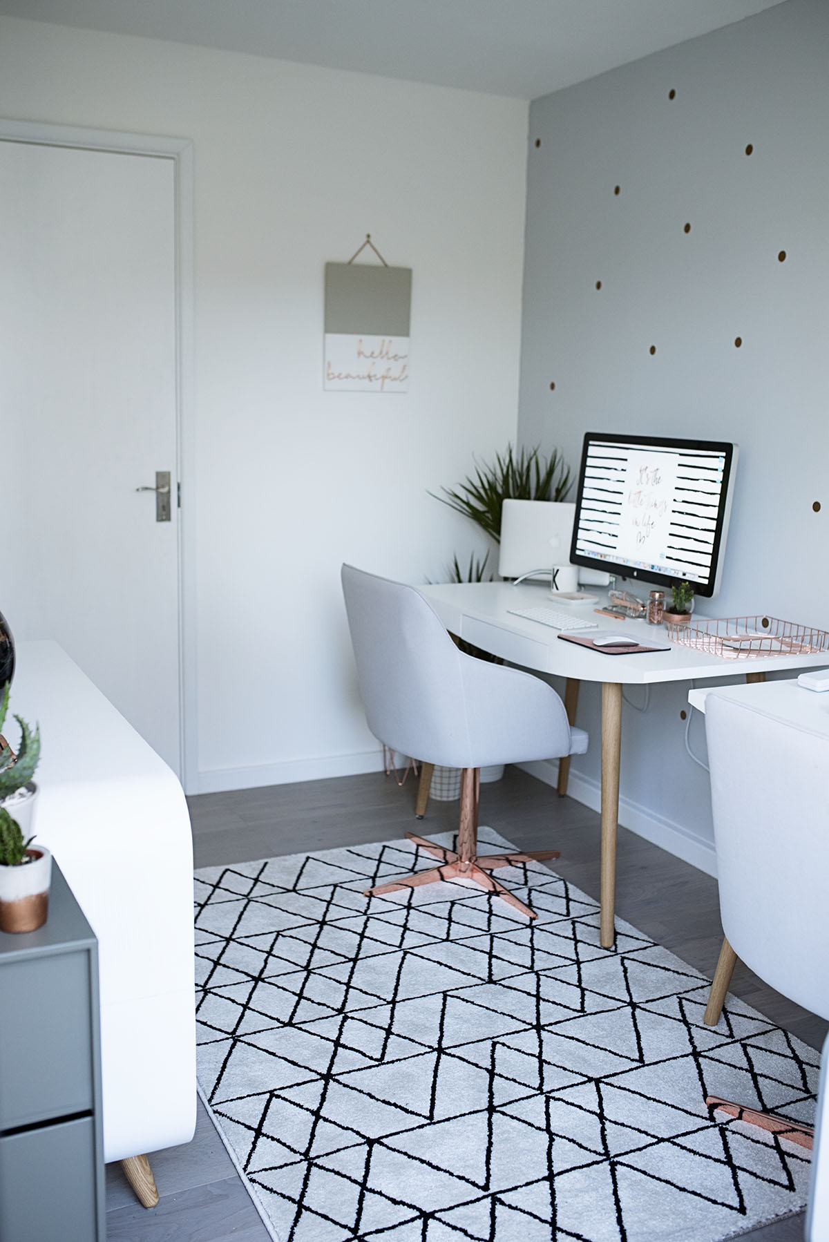 A Copper and Grey Office Tour (Our Old House)