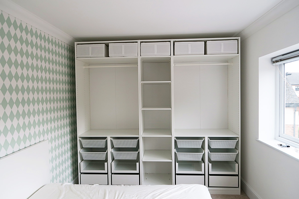 organising my girls wardrobes ikea pax system home renovation project 2 mummy daddy me. Black Bedroom Furniture Sets. Home Design Ideas