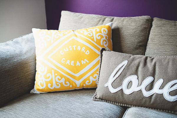 Nikki McWilliams biscuit cushion