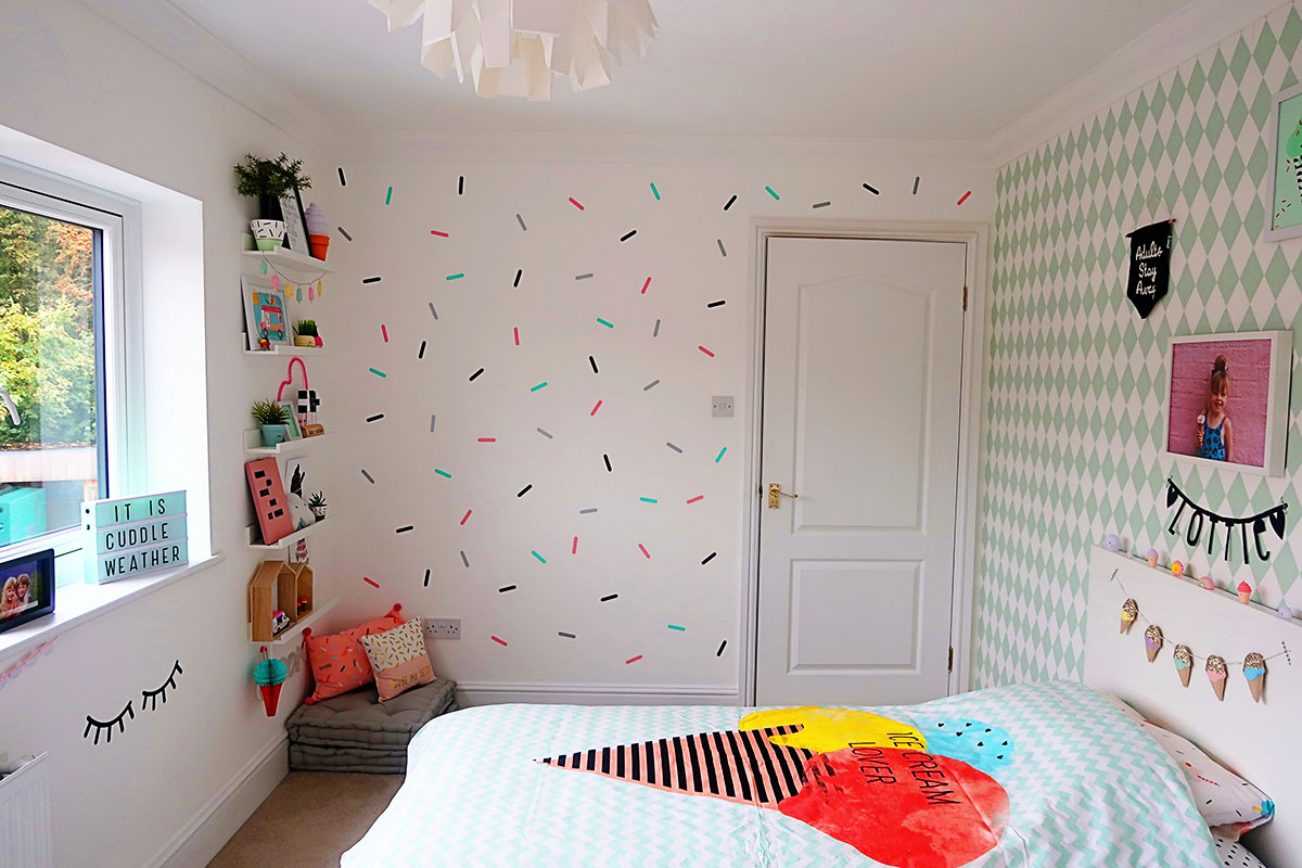 My Girls Shared Bedroom Tour An Ice Cream Themed Room